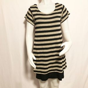 Laundry by Shelli Segal Striped Layered Sweater Dr